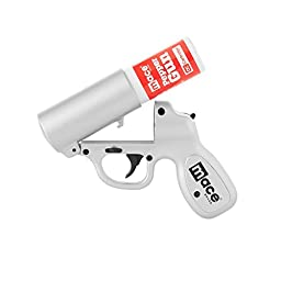 Mace Brand Self Defense Police Strength Pepper Spray Gun with Strobe LED