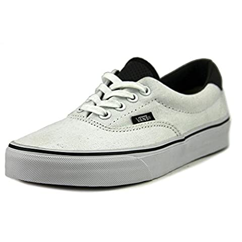 Vans Unisex Era 59 (C&P) True White/Black Skate Shoes 6M Men's/7.5M Women's - Comfort Skate