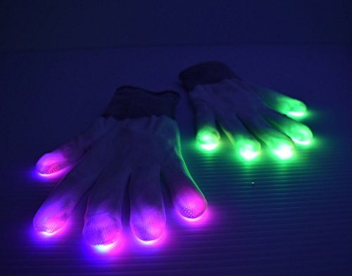 LED Light up Gloves 7 Different Color Modes (pair)