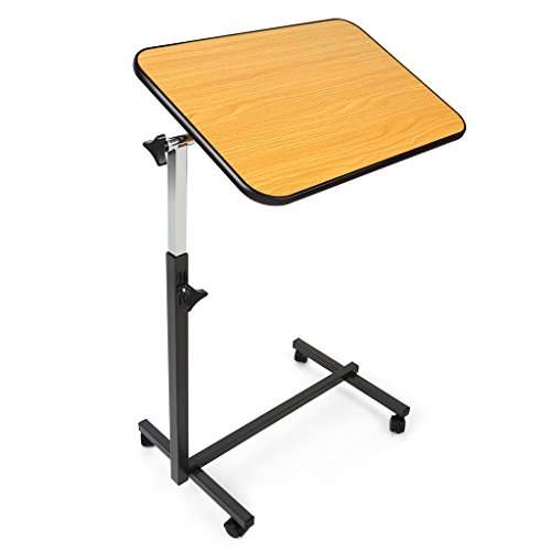 JCMASTER Overbed Table on Wheels, Height Adjustable Tilt Over Bed Table for Hospital and Home Use (Swivel Bed Tray Table compare prices)
