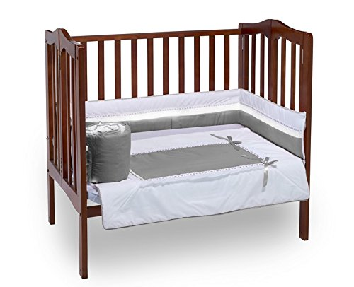 BabyDoll Royal Port-A-Crib Bedding Set, Grey baby doll bedding 535pac
