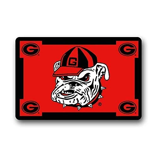 LFTRIS Shirt Home Roman's Doormat Personalized Custom Georgia Bulldogs Door Mat Door Entry Mat Rug