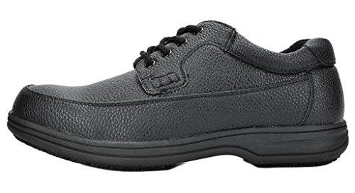 Dream Pairs Hombre Shack Oil Resistant Restaurante Oxfords Zapatos De Trabajo 02-negro