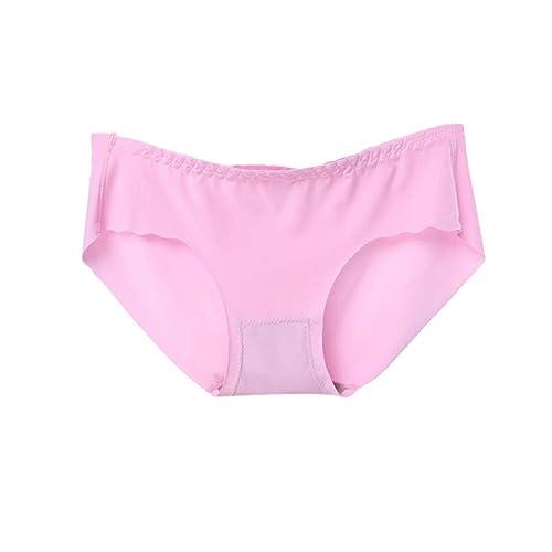 Meijunter 3Pcs Mujer Seda Algodón Cintura baja Sin Costura Bragas Ultra-delgado Ropa interior Knickers