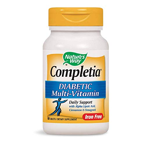 Cheap Nature's Way Completia Diabetic Multivitamin (iron-free), 60 Tablets (Packaging May Vary)