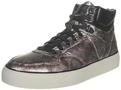 Diesel Men's Invasion High Top Sneaker,Silver,7 M US