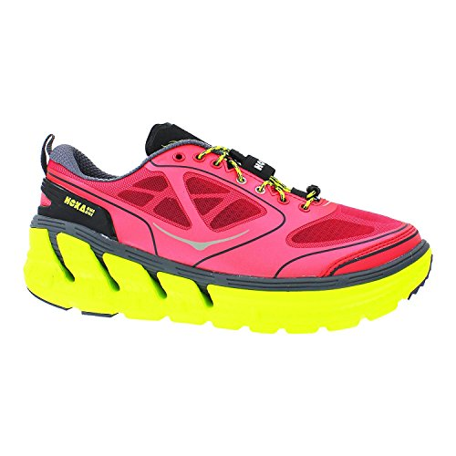 Hoka One One Conquest Running Shoe - Women's Paradise Pink/Castlerock/Citrus, 10.0