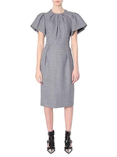 (Alexander McQueen Women's 579401Qjaai1080 Black Wool Dress )