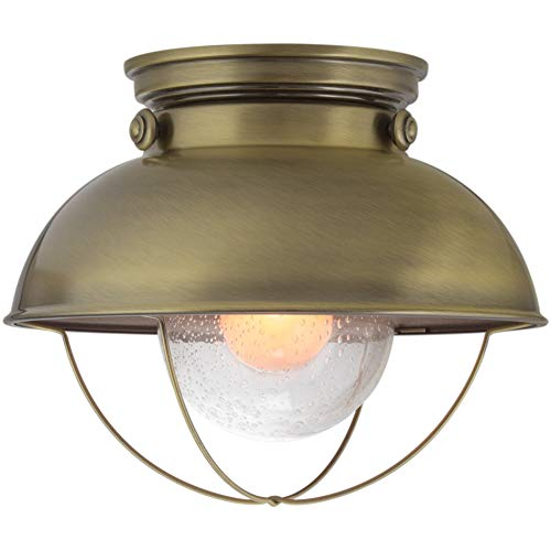 Antique Brass Outdoor Ceiling Light