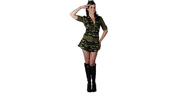 Disfraz militar mujer M: Amazon.es: Juguetes y juegos