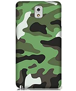 KINGCO For Samsung Galaxy Note 3 N9000 Green Camouflage Pattern Design Slim Fit Flexible Hard Back Case Cover