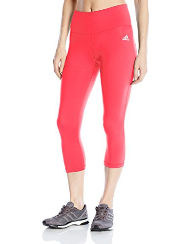 adidas Women's Performer Mid-Rise 3/4 Tights, X-Small, Black/Print/White/Matte Silver
