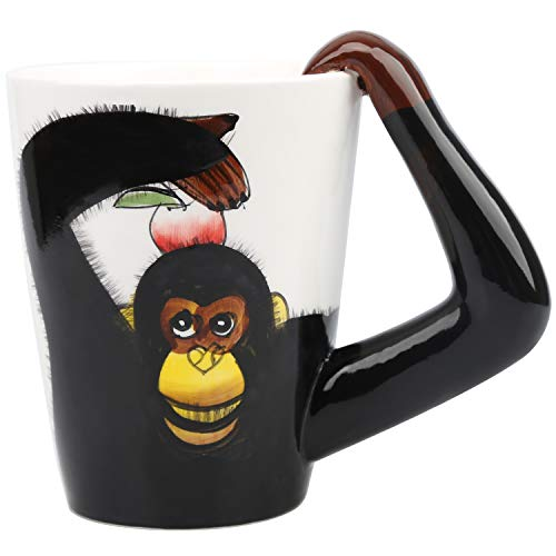 Ceramic Mug,Imarku 13 Oz Funny Monkey Tea Cup,3D Coffee/Milk/Tea Cup for Home and Office