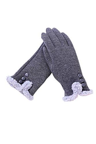 持参誠意貧しい画面をタッチyacun女性の冬の暖かい裏地スマートテキストメッセージの手袋