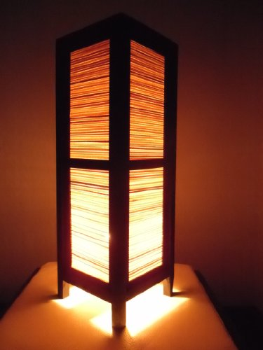 Thai Wood Lamp Handmade Oriental Classic Bamboo Bedside Table Lights or Floor Home Decor Bedroom Decoration Modern Design by Red berry Thailand Lanna Lamp