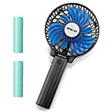 OPOLAR Small Handheld Battery Operated Travel Fan with Two 2200mAh Batteries, Portable & Rechargeable, Folding Design, Strong Airflow, 3 Setting, Ideal for Disney Outdoor Use