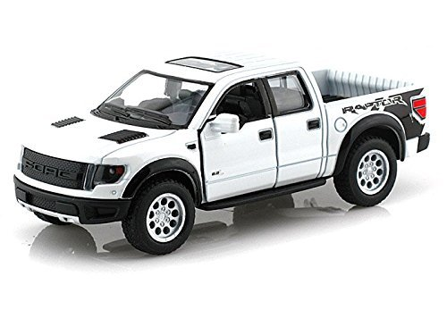 Svt Ford F150 Collectibles (White 2013 Ford F-150 SVT Raptor Supercab 5-inch Pickup Truck with Sunroof + Pullback Action 1/46 Scale)