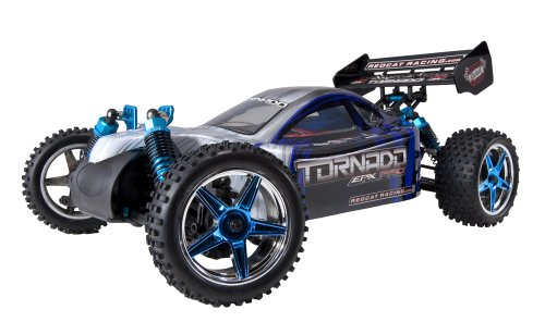 (Redcat Racing Brushless Electric Tornado EPX PRO Buggy with 2.4GHz Radio, Vehicle Battery & Charger Included (1/10 Scale), Blue/Silver)