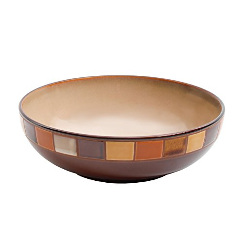 "Gibson Elite Casa Estebana Reactive Glaze 10"" Serving Bowl, Brown"
