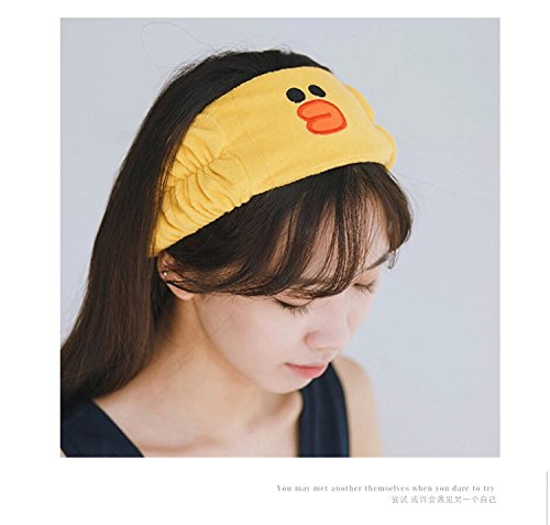 Generic Korea hair accessories cartoon animals cute rabbit face Women Headband Hairband raging headbang hair bang head hoop broad-brimmed cloth headband bathing caps by Generic (Image #1)