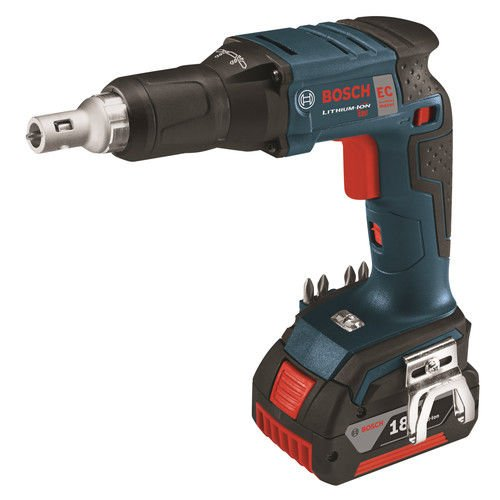Bosch SGH18201RT 18V Cordless Lithium-Ion Brushless Drywall Screwgun with 4.0 Ah FatPack Batteries (Certified Refurbished)