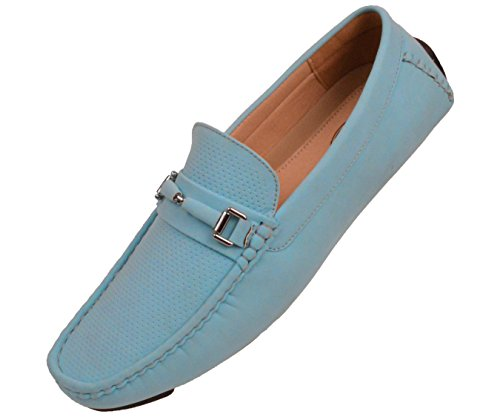 Amali The Original Mens Perforated Nubuck Loafer Driving Shoe with Wrapped Buckle Style Downey