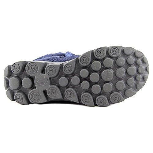 Skechers GO Walk MoveChugga Imprint - zapato botín de piel mujer Navy