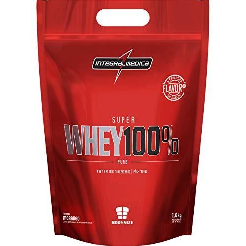 Super Whey 100% Pure - Refil Morango, IntegralMedica, 1800 g
