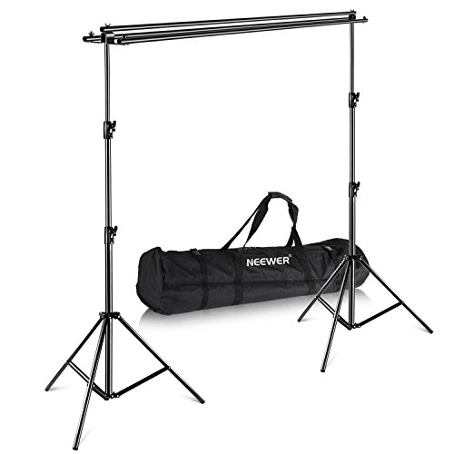 Neewer Photography Backdrop Support System with Carrying Case - Maximum 8.8x10 feet/2.7x3 meters (Height x Width) for Muslin, Paper and Canvas Backdrops for Photo Video Studio Shooting (Multiple Background Stand)