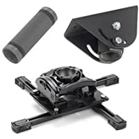 Chief KITQA003 Projector Mount Kit, Includes RPMAU Elite Universal Projector Mount, CMS003 3 Fixed Extension Column, CMA395 Angled Ceiling Plate