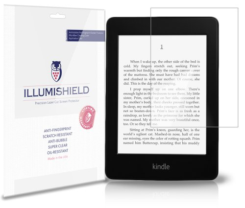 iLLumiShield Screen Protector Compatible with Amazon Kindle Paperwhite 6 inch Wi-Fi 3G (3-Pack) Clear HD Shield Anti-Bubble and Anti-Fingerprint PET Film