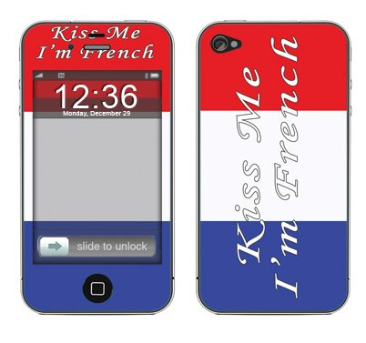 System Skins Kiss Me French Skin Decal for Apple iPhone 4 & 4S