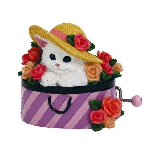 トミカチョウ Irresistible cat (子猫) in in the Hatボックス手Cranked Irresistible Musical Figurine Figurine B00PTDNG0O, 悠彩堂:67f8b3fd --- arcego.dominiotemporario.com