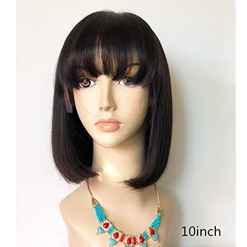 Buy brazilian human hair wigs with bangs
