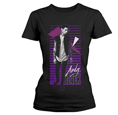 Andy Black Women's New Wave Skinny T Shirt - 10 UK, - Black Andy