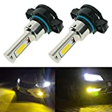 Calais Super Bright 5202 5201 PS19W PS24W Yellow 3000K 2000 Lumens LED Bulbs High Power COB Chips LED Fog Lights Lamps Replacement (Set of 2)