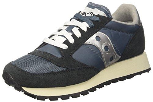 Saucony Unisex Adults' Jazz Original Vintage Gymnastics Shoes, Blue, 7 UK Blue (Blue/Navy/ Silver 4)