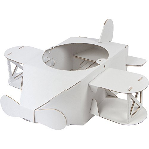 Ordinary Genius The Kitty Hawk Wearable Toy Plane Costume, 10 Piece Cardboard Easy Assembly, Pretend Play -