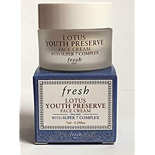 Fresh Lotus Youth Preserve Face Cream With Super 7 Complex 0.24oz/7ml NIB