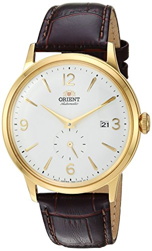 Orient Men's Bambino Small Seconds Stainless Steel Japanese-Automatic Watch with Leather Strap, Brown, 21 (Model: RA-AP0004S10A