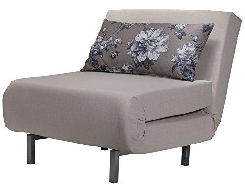 Cortesi Home Savion Beige Convertible Accent Chair Bed