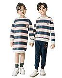 CUNYI Kids' Boys Striped Pullover Girls Long Sleeve