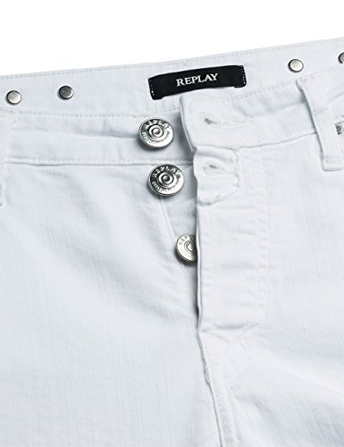 Replay Blancwhite 1 Ankle Pilar ZipJeans Femme YgIf7b6yv