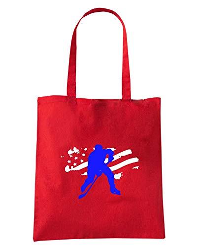 Speed Shirt Borsa Shopper Rossa OLDENG00758 HOCKEY USA