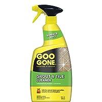 Goo Gone Grout & Tile Cleaner - 28 onzas - Elimina las manchas difíciles Suciedad causada por el moho Jabón Espuma y manchas de agua dura - Seguro en azulejos Cerámica Porcelana