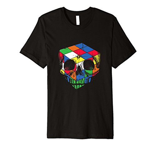Skull Design Awesome (Puzzle Cube Skull Design Awesome Design Funny Gift T-Shirt)