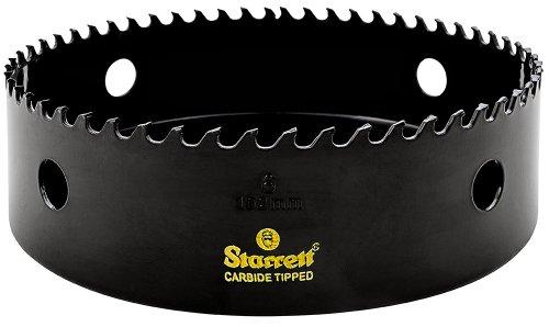 Starrett CT600 Steel High Performance Triple Chip Tungsten Carbide Tipped Hole Saw, Carbide Teeth, 6