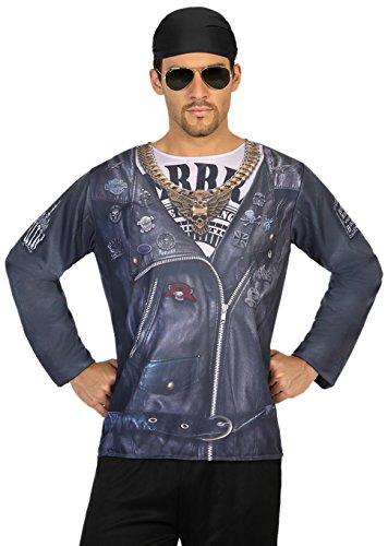 Atosa-9668 Atosa-9668-Camiseta Motero-Adulto Hombre, Color Negro ...