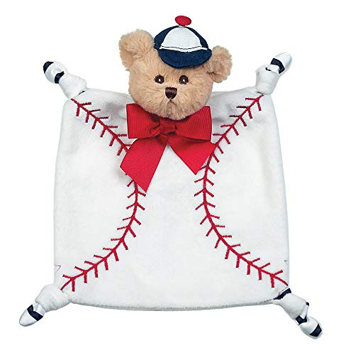 Bearington Baby Wee Lil' Slugger, Small Baseball Stuffed Animal Lovey Security Blanket, 8
