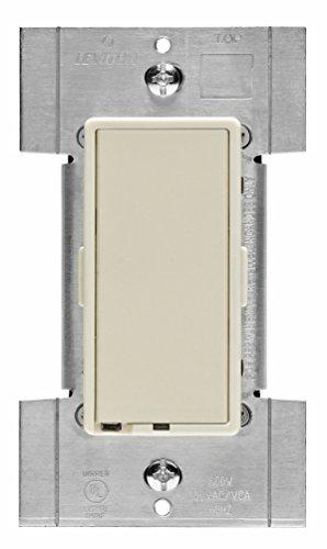 Wide 1 Dimmer (Leviton TTI06-1LZ True Decora Low Voltage Preset Digital Touch Dimmer, 120 Vac, 600 W, 1 P, 3 Way, 1 Pack White)